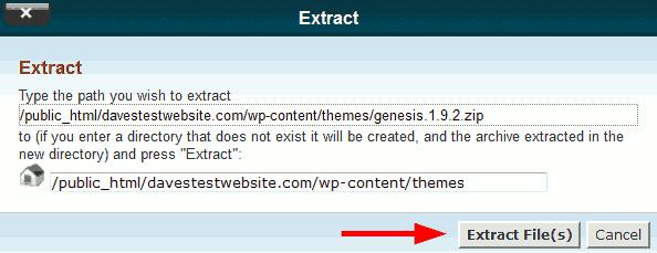 Extract StudioPress Genesis framework file.