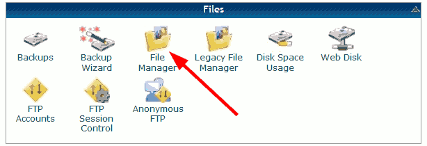 HostGator file manager.