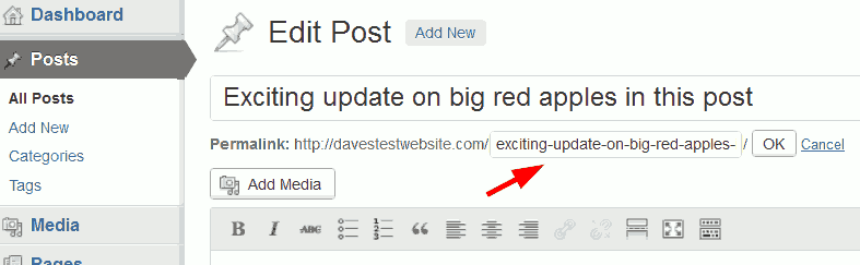 Shorten WordPress permalink.