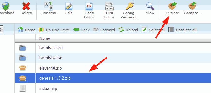 Unzip StudioPress Genesis framework folder.